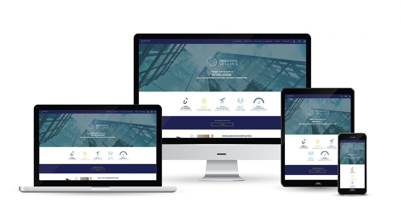 Un site commercial pour Excellence Selling